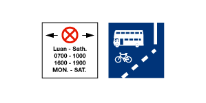 Clearways or Bus Lanes