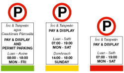 Pay and display notices